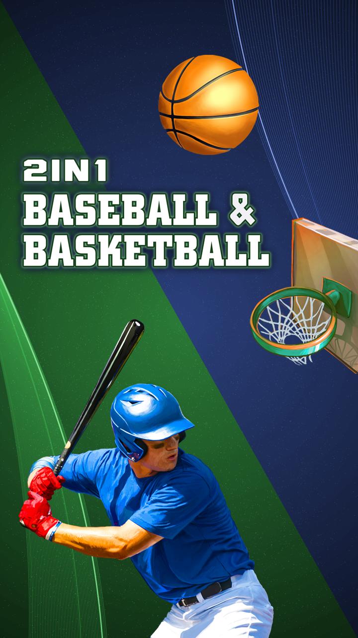 2 in 1 Baseballand Basketball