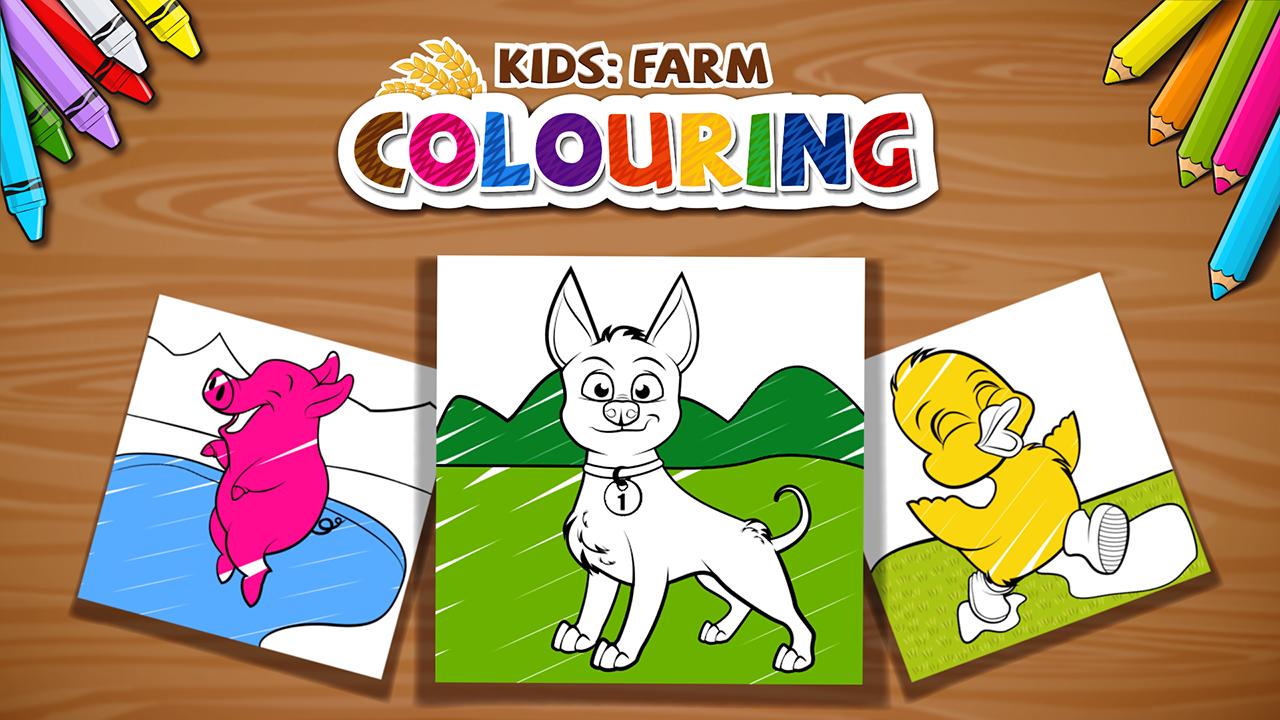 Kids Farm Colouring